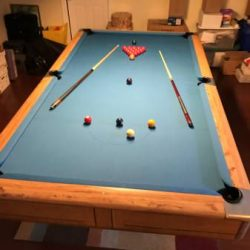 Custom Made 9' Regulation Size Snooker Table