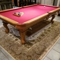 Connelly Oak Dining Table Plus 8ft Pool Table