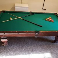 Brunswick Balke Collender Co. Monarch Cushion Pool Table