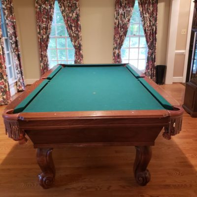 8' Slate Tournament-grade Connelly Catalina Mahogany Pool Table with Ping Pong Top